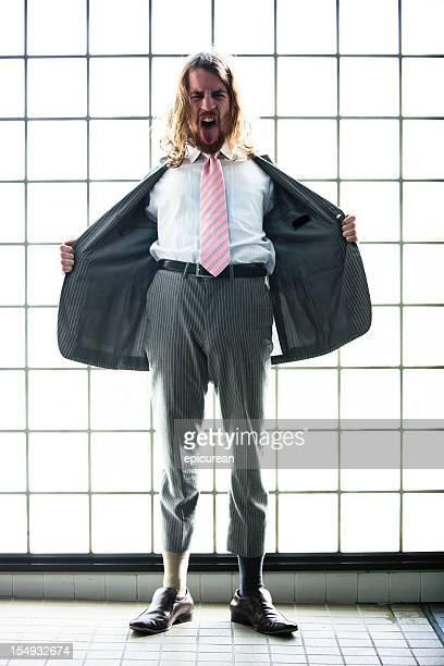 crazy businessman