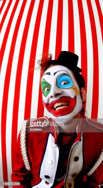 crazy clown - scary clown makeup stock photos and pictures