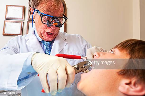 crazy dentist - dental fear stock pictures, royalty-free photos & images