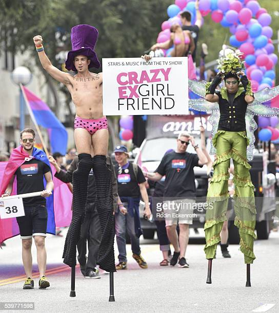 Crazy Ex Girlfriend Stiltwalker at LA PRIDE Music Festival And Parade 2016 on June 10, 2016 in West Hollywood, California.