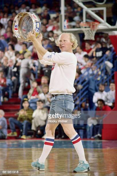 Crazy George of the Sacramento Kings performs against the Utah Jazz during a game played circa 1987 at Arco Arena in Sacramento California NOTE TO...
