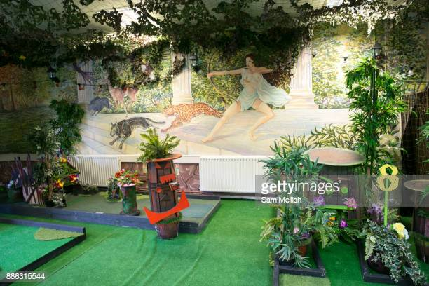 Crazy Golf at Efes Snooker Club on 18th November 2015 in East London United Kingdom A popular rough and ready Turkish Snooker and Pool hall popular...