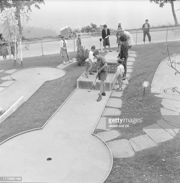 Crazy golf ground in Leysin 1955