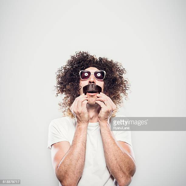 Crazy Hair and Mustache Guy
