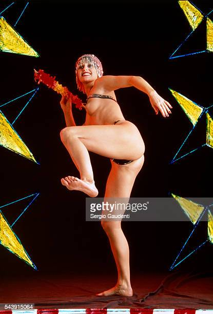 Crazy Horse dancer with javelin