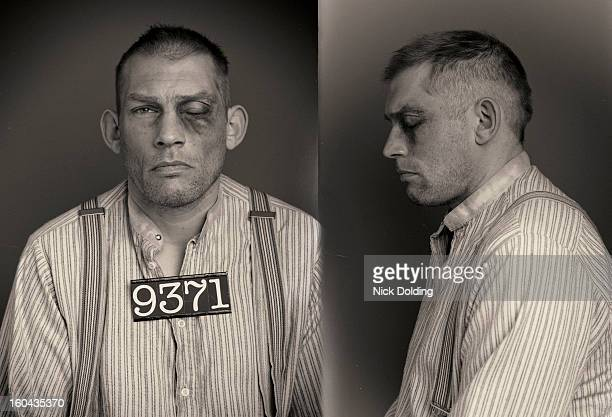 crazy jake wanted mugshot - police mugshot stock pictures, royalty-free photos & images