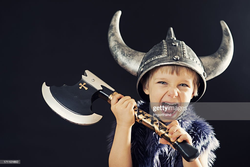 Crazy little barbarian : Stock Photo
