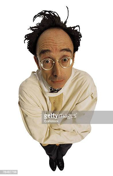crazy man in straitjacket - straight jacket stock pictures, royalty-free photos & images