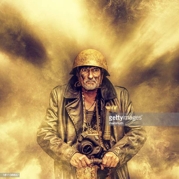 crazy man using detonator - detonator stock photos and pictures