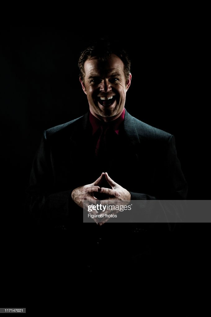 Crazy Man with laugh : Stock Photo