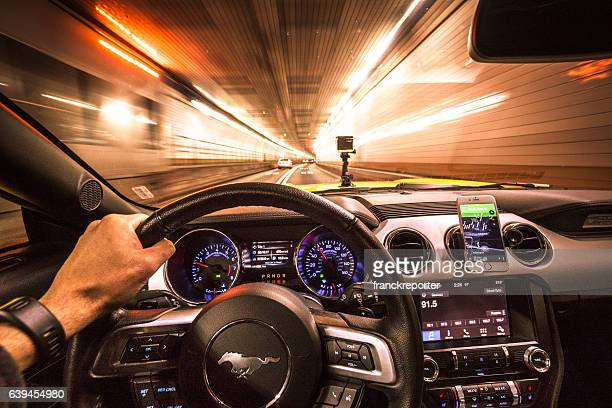 crazy ride on the night by car - ford motor company stock pictures, royalty-free photos & images