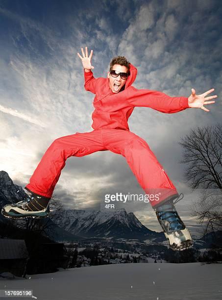 crazy winter fun (xxxl) - ski pants stock pictures, royalty-free photos & images
