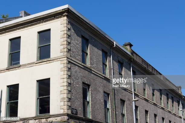 cream bricked victorian warehouse - social history stock pictures, royalty-free photos & images