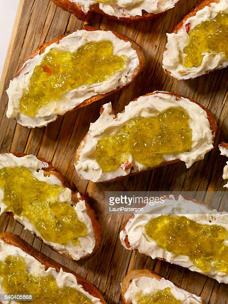 Cream Cheese and Jalapeno Jelly Crostini's