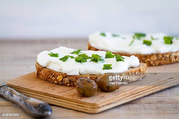 cream cheese sandwich - spread food stock pictures, royalty-free photos & images