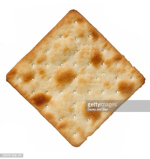 Cream cracker, overhead view