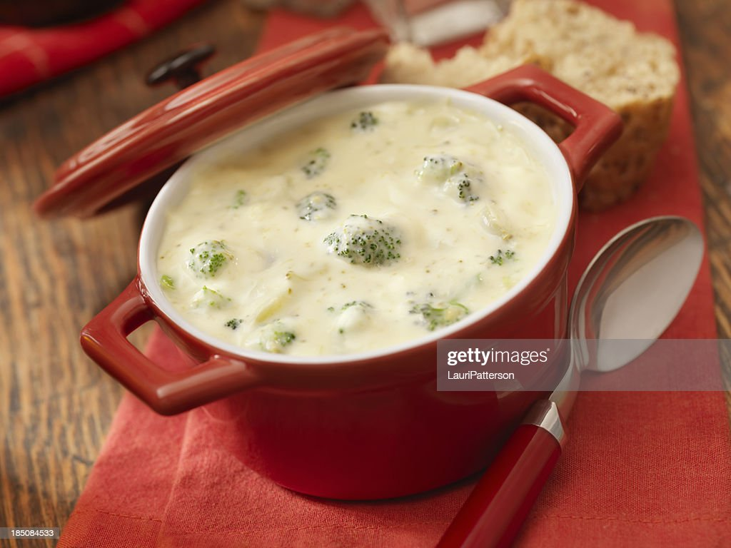Cream of Broccoli Soup : Stock Photo