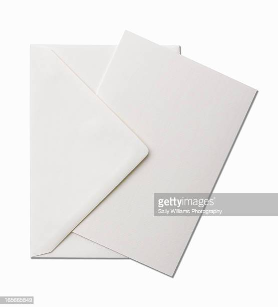 A cream sheet of writing paper with envelope