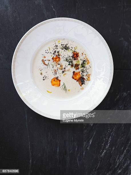 Cream soup with white beans and vegetables