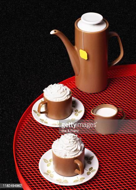 cream tea - english teapot stock pictures, royalty-free photos & images