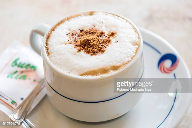 Creamy cappuccino hot and ready to drink served at a chain of resorts named Cubanacan SA