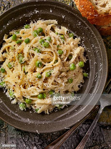 Creamy Fettucini with Peas and Parmesan