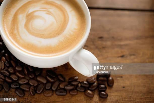 Creamy latte coffee
