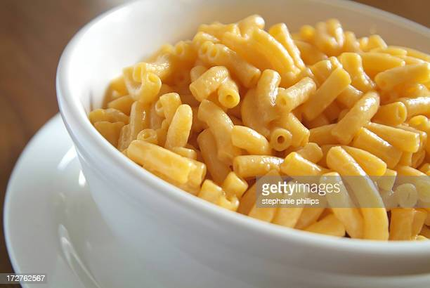 Creamy Macaroni and Cheese in a Bowl on a Table