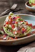 creamy ranch wedge salad with bacon