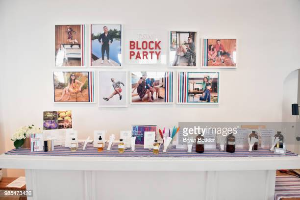 Create Your Own Scent station is seen during the DSW Block Party hosted by Olympians Adam Rippon and Mirai Nagasu on June 27 2018 at Ramscale Studio...