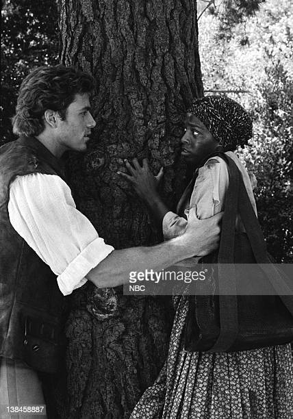 VOYAGERS Created Equal Episode 2 Aired 10/10/82 Pictured JonErik Hexum as Phineas Bogg Fay Hauser as Harriet Tubman