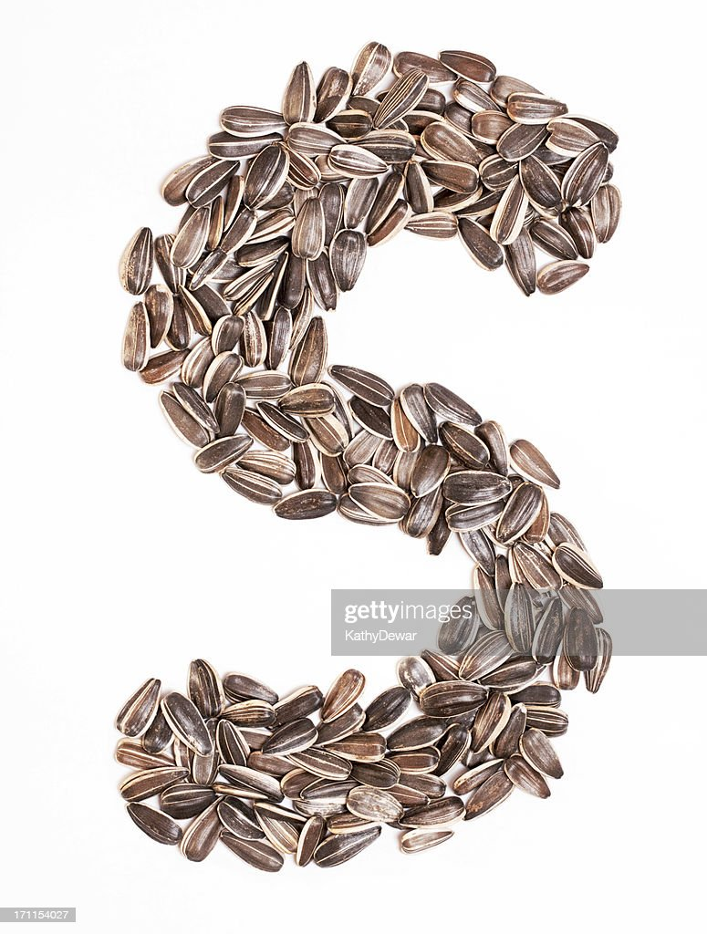 S Created With Sunflower Seed Healthy Alphabet Letter ...