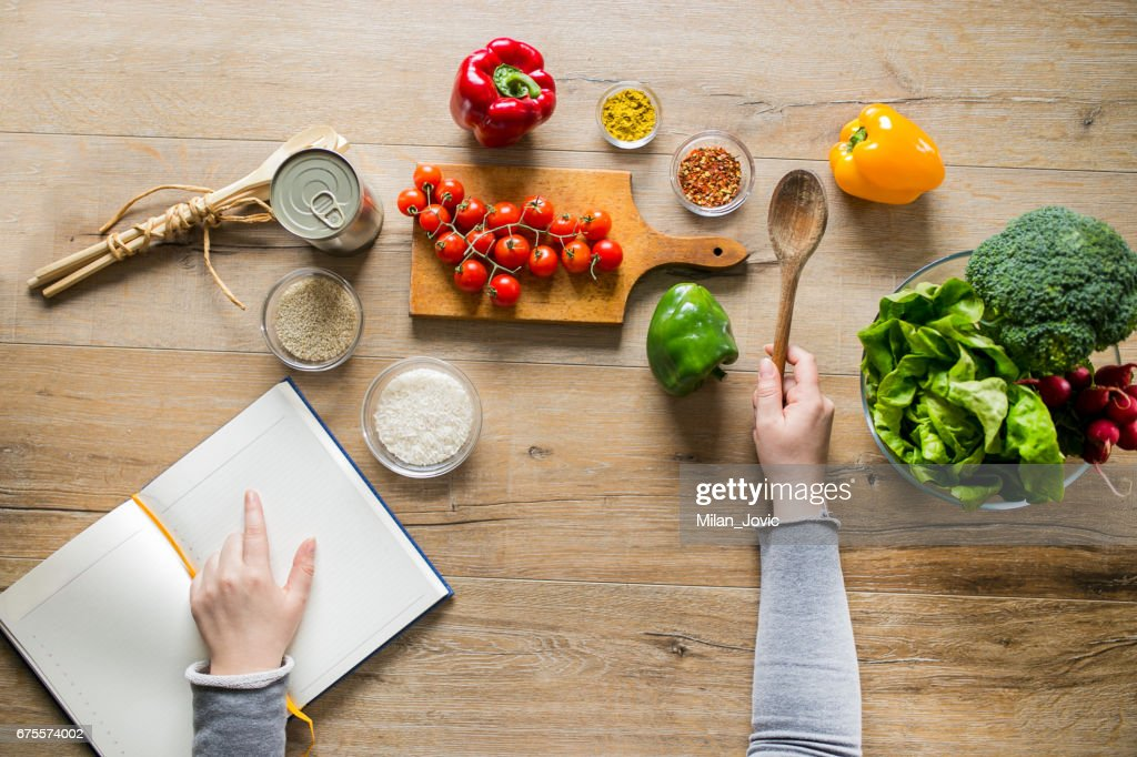 Creating a Recipe : Stock Photo