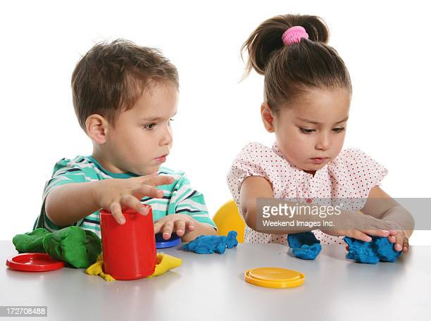 creating children - clay stock pictures, royalty-free photos & images