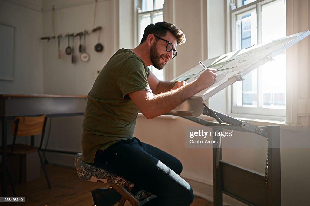 Creating eye catching designs : Stock Photo
