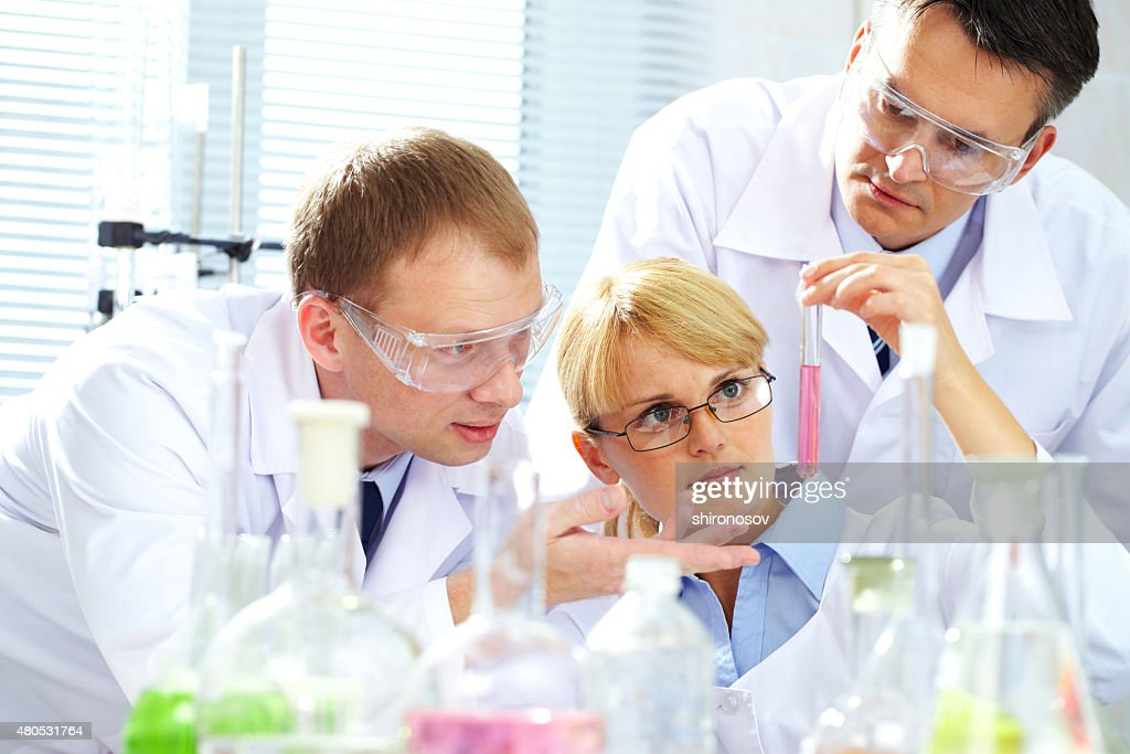 Creating medicine : Stock Photo