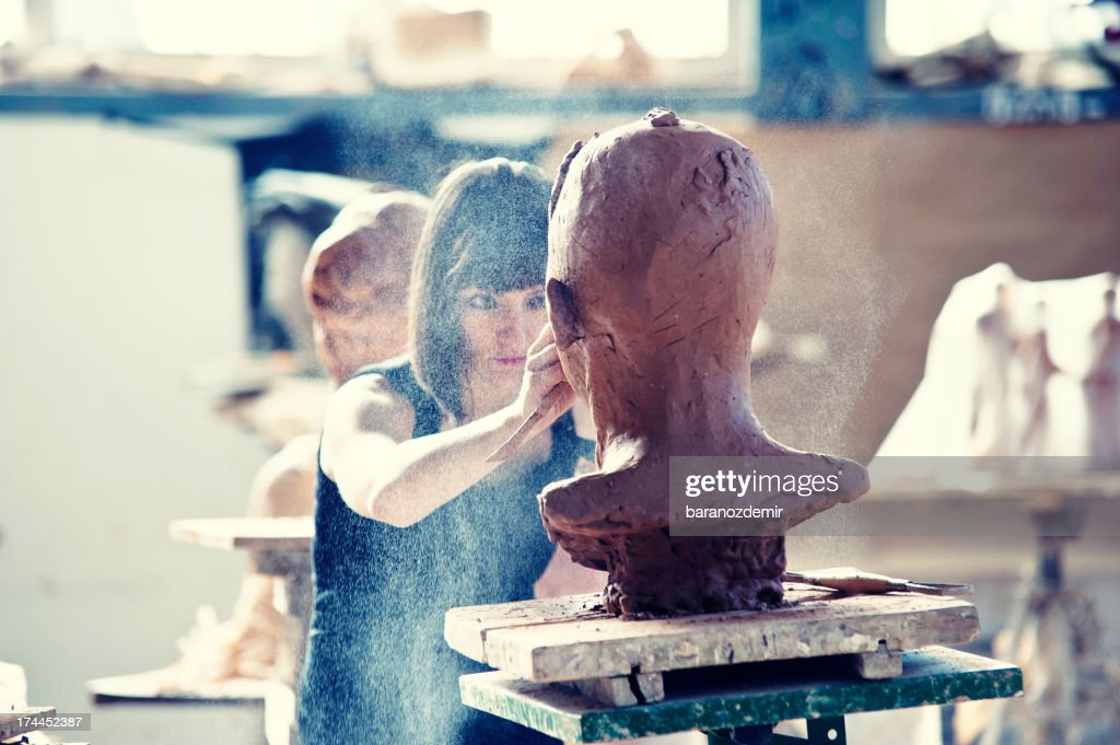 Creating Sculpture : Stock Photo