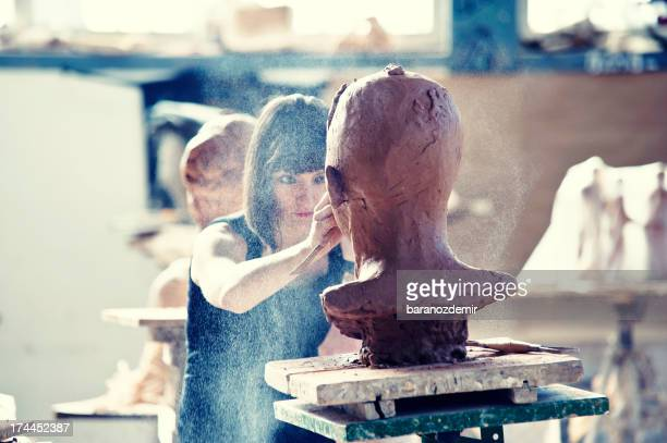 creating sculpture - sculpture stock pictures, royalty-free photos & images