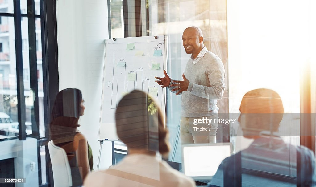 Creating their own plan for success : Stock Photo