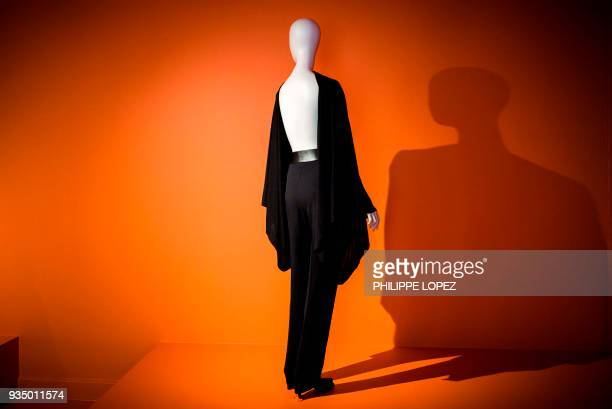 """Creation by Belgian fashion designer Martin Margiela is displayed as part of the exhibition """"Margiela: The Hermes Years"""" at the Paris decorative arts..."""