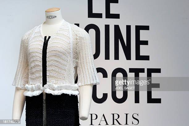 A creation by French designer Alice Lemoine is on display during the 2014 Spring/Summer readytowear collection fashion presentation on September 24...