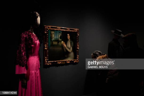 A creation by Spanish designer Juan Vidal is displayed during the exhibition Modus on December 4 2018 in Madrid On display at Sala Canal de Isabel II...
