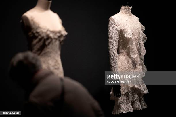 A creation by Spanish disigners Victorio and Lucchino is displayed during the exhibition Modus on December 4 2018 in Madrid On display at Sala Canal...
