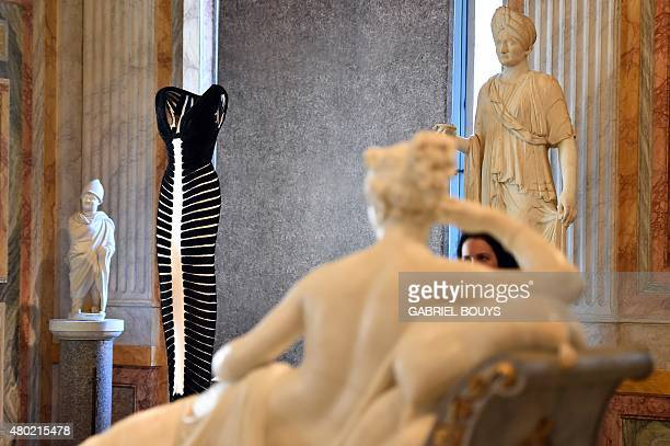 """Creation by Tunisian-born, Paris-based couturier Azzedine Alaia is displayed during the press preview of the exhibition """" Azzedine Alaia's soft..."""