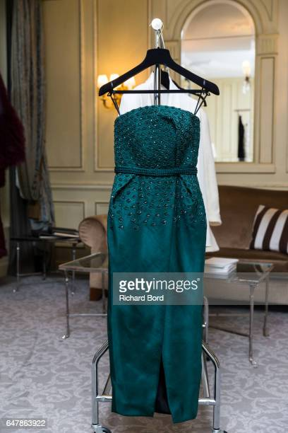 A creation is displayed during the OngOaj Pairam presentation at Hotel Meurice as part of the Paris Fashion Week Womenswear Fall/Winter 2017/2018 on...
