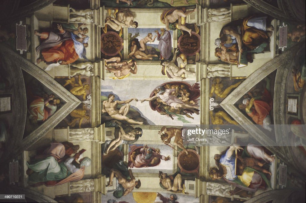 Creation Of Adam Is A Fresco On The Ceiling Of The Sistine Chapel, Painted  By
