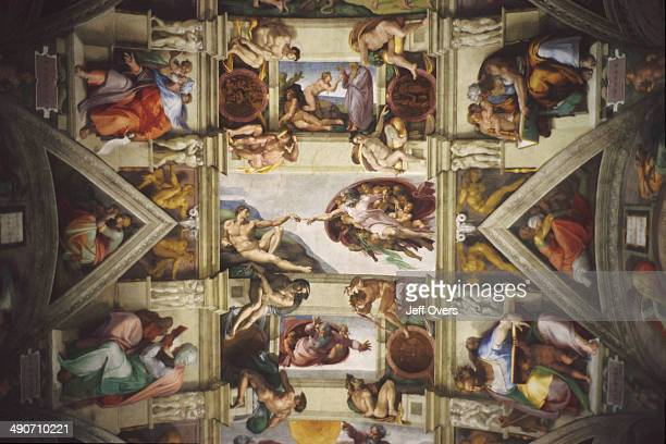 Creation Of Adam is a fresco on the ceiling of the Sistine Chapel painted by Michelangelo Buonarroti circa 1511 It illustrates the Biblical story...