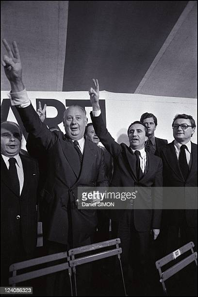 Creation of Parti Republicain In Frejus France On May 21 1977 At the left of Michel Poniatowski is PR secretary general JeanPierre Soisson