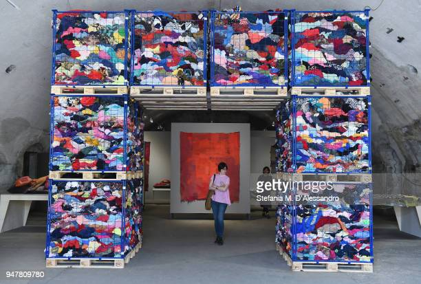 Creations are displayed during Fuorisalone as part of Milan Design Week on April 17 2018 in Milan Italy