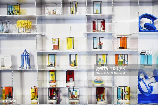 Creations are displayed during Fuorisalone as part of Milan Design Week on April 20 2018 in Milan Italy
